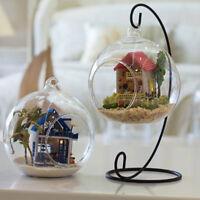 Bougie de mariage bougeoir chandelier boule de verre confondu poupée supportI