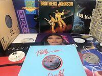 Disco Soul Funk Vinyl Record Lot - Brothers Johnson Barkays New Edition 70s 80s