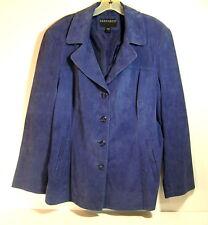 Bernardo Blue Suede Blazer Woman's Size Large