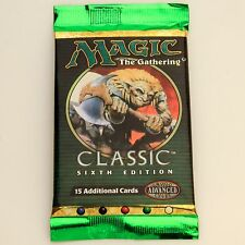 MTG: CLASSIC 6th EDITION Sealed Booster Pack - Magic the Gathering