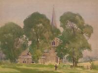 Herbert Goodliffe (1900-1958) - Mid 20th Century Watercolour, Church Scene