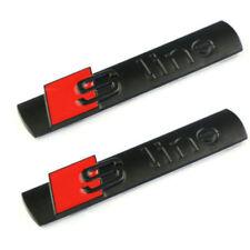 2 x LOGO FREGIO STEMMA EMBLEMA AUDI S LINE A2 A1 A3 A4 A5 A6 A7 A8 Q3 Q5 Q7