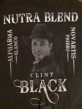 CLINT BLACK  2011 TOUR   Nutra Blend Alpharma Elanco PRE OWNED T shirt XL