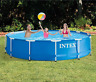 Metal Frame Swimming Pool Set Above Ground Filter Pump Outdoor Intex 12' x 30""