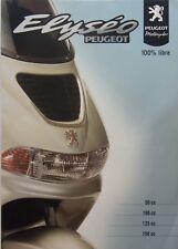 brochure publicitaire -  SCOOTERS ELYSEO DE   PEUGEOT  - 2001