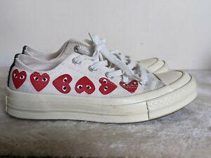 Comme des Garçons Play X Converse Trainers Sneakers Shoes Low White UK3 UNISEX
