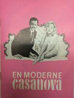 Casanova 70 Marcello Mastroianni Virna Lisi 1965 Vtg Old Danish Movie Program
