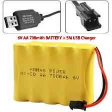 6V 700mAh RC Ni-Cd SM 2Pin Plug AA Rechargeable Battery + SM Plug Charger Cabel