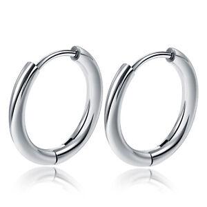 Wholesale 10x Surgical Steel Hinged Hoop Ring Earring Round Sleeper 2.5x14mm