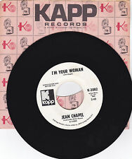 JEAN CHAPEL-KAPP 2082 PROMO COUNTRY 45RPM I'M YOUR WOMAN  VG++