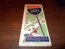 1959/60 AAA Northeastern States Vintage Road Map
