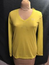 Under Armour heat gear ua.com women small loose Yellow New 100% Polyester NWT