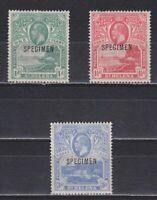 SAINT HELENA 1922, SG#89-91, CV £200, SPECIMEN overprint, MH