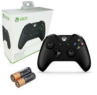 Microsoft Xbox One Black Wireless Bluetooth Controller -Windows 10 +AA Batteries