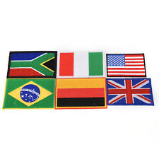 embroidery sew iron on patch nation flag badge transfers cloth fabric LJ