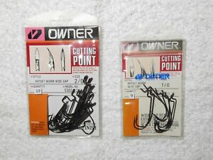 Owner All Purpose Plastic Worm Hooks (2 pkgs)