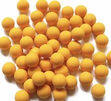 500 New Yellow .43 cal Reusable Rubber Training Balls Paintballs