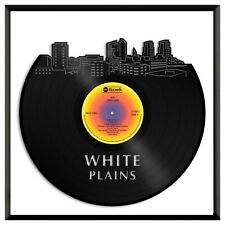 White Plains New York Vinyl Wall Art Cityscape Home Room Decoration Framed