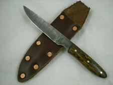 "Jeff C. Morgan, Custom Alabama Damascus, ""The Culprit"" Knife, Bocote, USA"