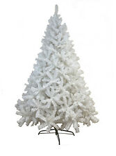 LUXURY 8ft / 240cm TALL WHITE COLOURED XMAS CHRISTMAS TREE ARTIFICIAL 2000 TIPS