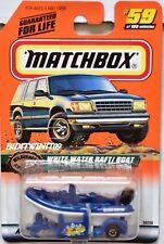 Matchbox 1999 Wilderness Aventura Blanco Agua Balsa / Barco #59 Azul