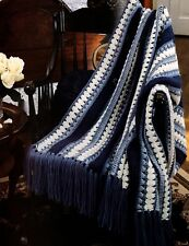 HANDSOME Kingly Cover-Up Afghan/Crochet Pattern INSTRUCTIONS ONLY