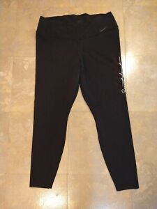 EUC women's NIKE DRI FIT black athletic leggings - SIZE 1X / AWESOME !!!!!!!