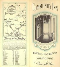Community Inn Hershey Pennsylvania Travel Brochure Circa 1940's Photos Map