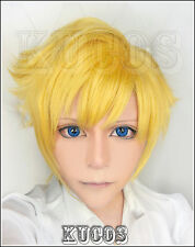 Halloween Wig Hair Cosplay Costume Final Fantasy XV Prompto Short Gold Anime