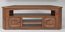 #899 Solid Wood Oak Country Corner TV Stand