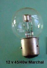 12 v 45/40 Watt Marchal Frontale Ampoule phare Vintage and Auto Classique