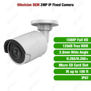 Hikvision DS-2CD2023G0-I OEM 2MP IP True WDR IR Mini Bullet Camera 2.8mm Fixed