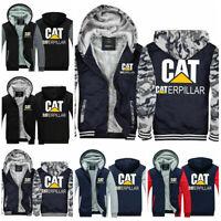 New Men's Hoodies Caterpillar Power Hooded Thicken Warm Sweatshirt Fleece Jacket