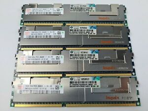 HP 4x16GB 64GB DDR3 PC3-8500R ECC Reg DIMM RAM Kit for DL360 DL380 DL580 G6 G7