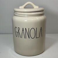 "Rae Dunn LL ""GRANOLA"" Med/Large (8"") Storage Canister - NEW HTF"