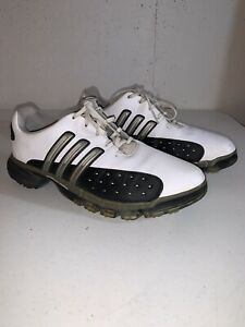 Adidas Powerband Chassis Mens Golf Shoes Sz 10.5 US Traxion Adiprene White Black