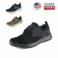 Men's Fashion Sneakers Faux Suede Leather Lightweight Comfort Walking Shoes