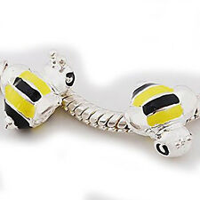 Bumble Bee European Bead Compatible for Most European Snake Chain Charm Bracelet