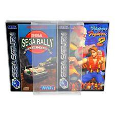 5 x GP8 Saturn Game Box Protectors 0.4mm PET Plastic Display Case For Sega