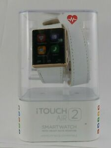 iTouch Air 2 Smartwatch Touch Screen IOS and android- 41mm White Leaher Strap