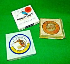 SELECTION OF 3No VINTAGE SILK LINE BOXES - KINGFISHER AND GLIDER