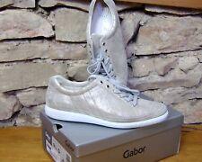 GABOR Comfort Sneaker Schuhe Gr. 44 (9.5) Gold Metallic Leder w. NEU NP 119,99 €