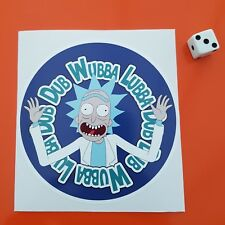 rick and morty Wubba Lubba Dub Dub Car Van Sticker Decal Funny Stickers VW 105mm