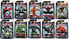 2015 Hot Wheels Marvel Ultimate Spider-Man Full Car Set of 10 1/64 Rare Die-Cast