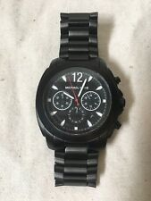Black Michael Kors Ion Plated Chronograph Watch Mk8282