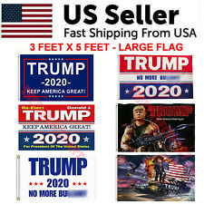 Trump 2020 Flag 3x5 Feet Keep America Great MAGA KAG Banner Tank Rambo Bazooka