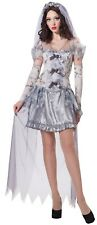 Ladies Sexy Zombie Dead Ghost Bride Halloween Fancy Dress Costume Outfit 10-14