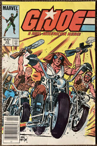 G.I. Joe #32 (Marvel 1985). 1st Lady Jaye. Amazon TV!  Newsstand variant.