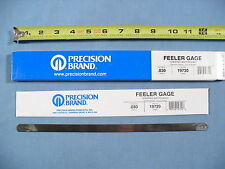 "NEW Precision Brand Feeler Gage Gauge .030"" Shim Stock 19730, Box of 12 -19729"