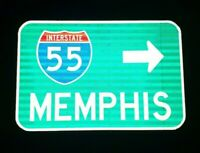 MEMPHIS Interstate 55 route road sign - Tennessee, Elvis, Graceland, Blues